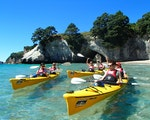 Kayak the crystal clear waters of Cathedral Cove | New Zealand holiday