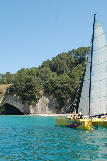 Nz coromandel sailing boat beach family see and do adventurous