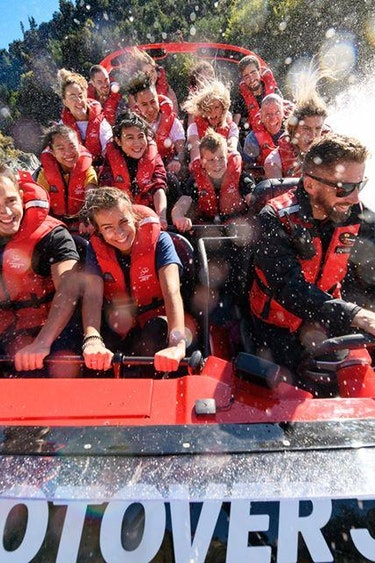Nz queenstown jet boat people family see and do adventurous