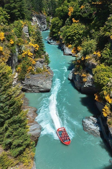Nz queenstown jet boat view family see and do adventurous