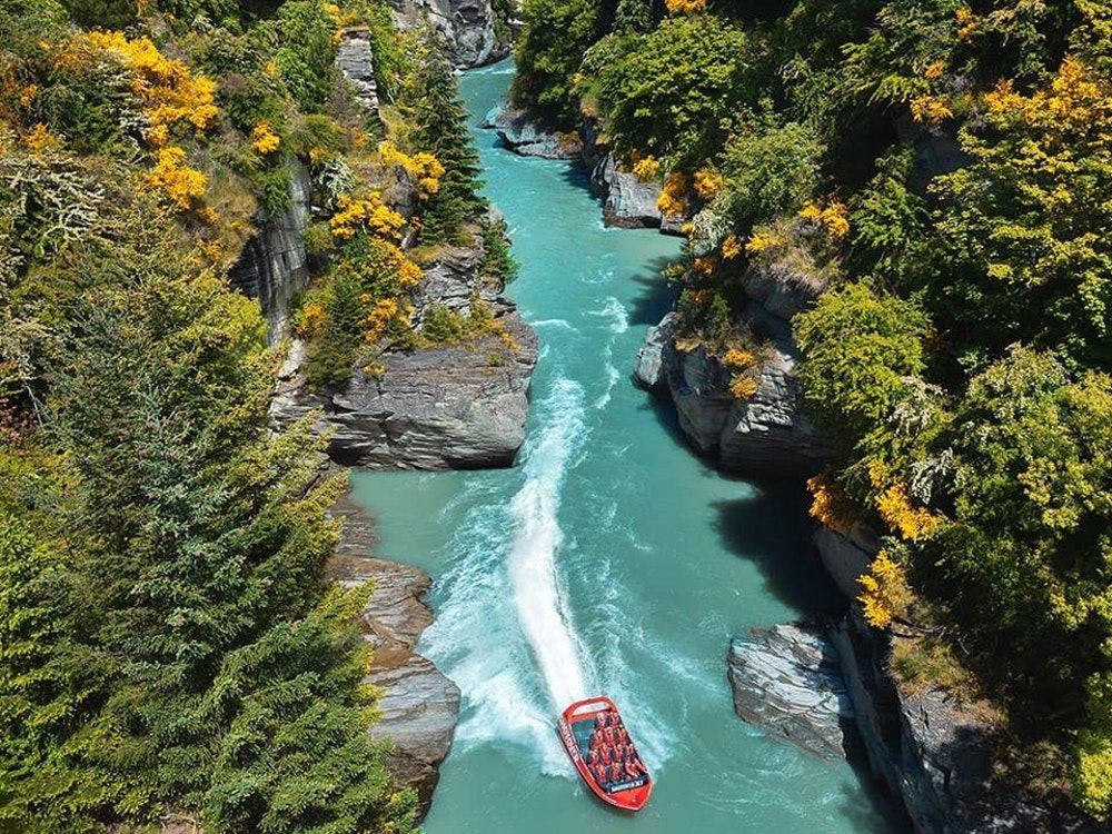 Advenutour jet boating in Queenstown region | New Zealand holiday