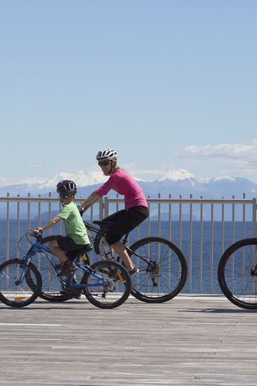 Nz tongariro river trail bike family see and do active