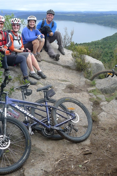 Nz tongariro river trail bike group family see and do active