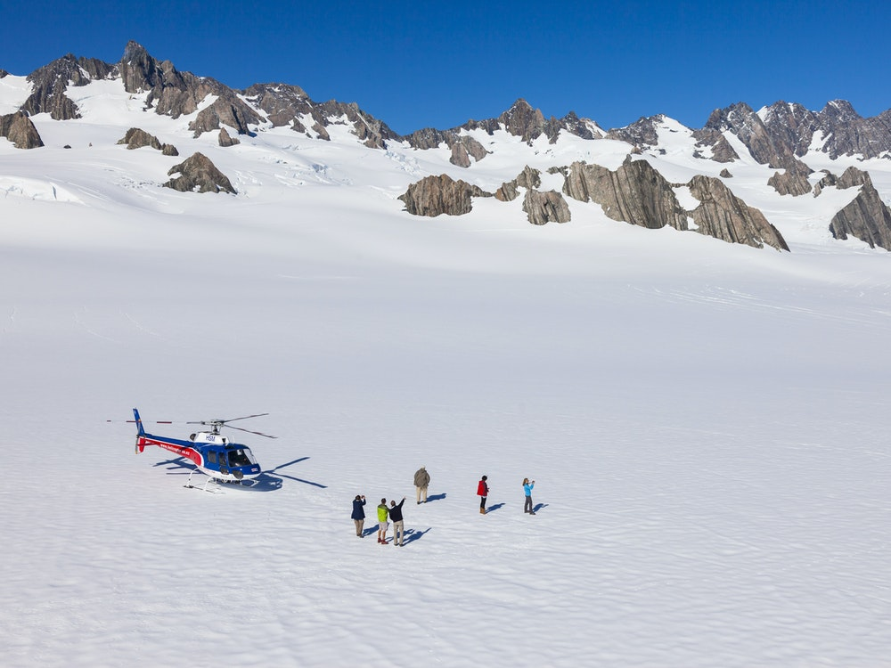 Experience a thrilling helicopter flight over Mount Cook