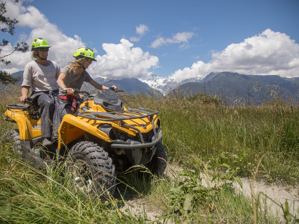 Go quad biking on the South Island's rugged west coast