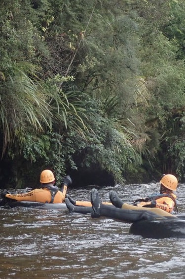 Nz paparoa national park tube river group friends see and do adventurous
