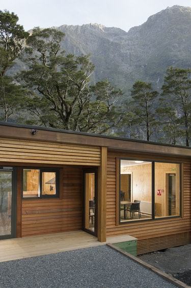 Nz milford sound chalet outside mountain view friends stays luxury