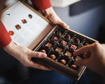 Cathay Pacific business class chocolates