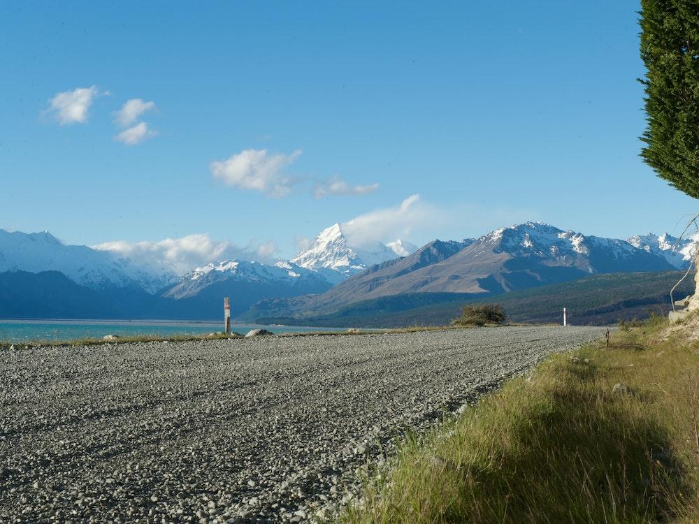 Road-side views of Lake Tekapo