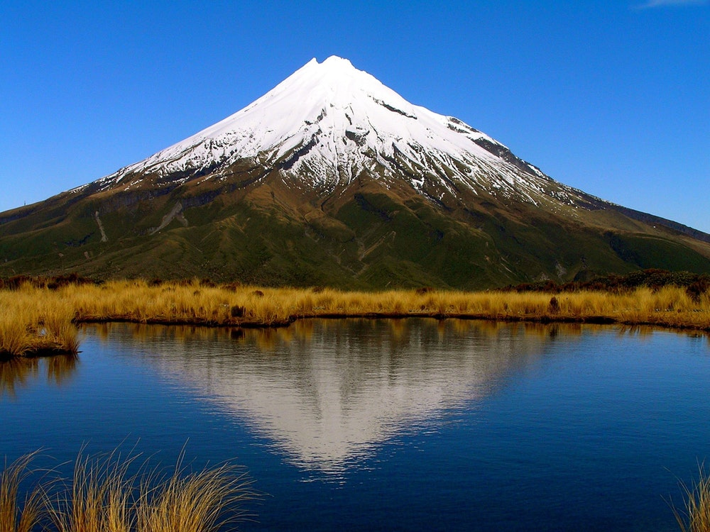Enjoy spectacular views of the striking Mount Taranaki