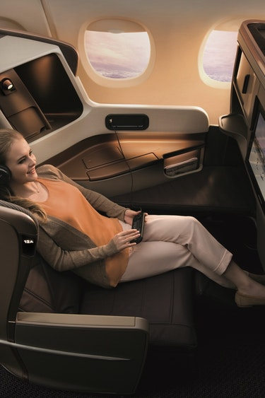 Sinapore airlines business class 1
