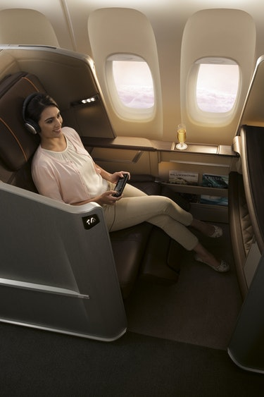 Singapore airlines first class seat entertainment