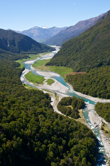 Nz makarora wilkins jets river nature solo best travel time